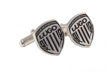 Gemelo de plata con escudo CDL